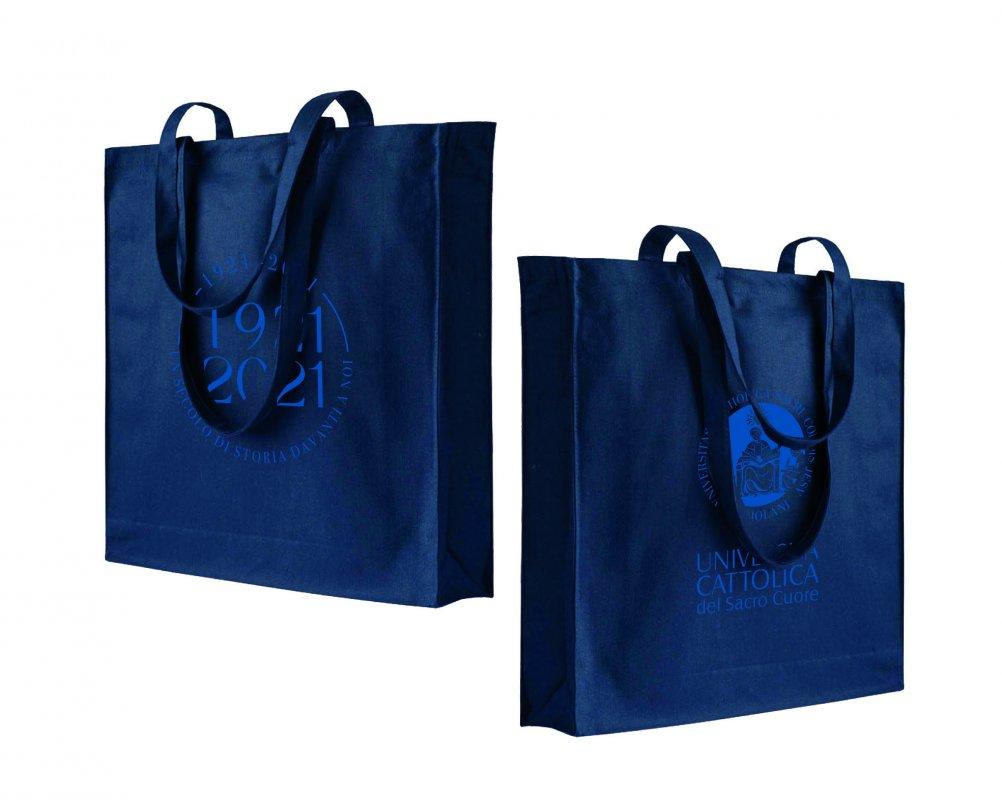 Shopper Soffietto Blu Centenario