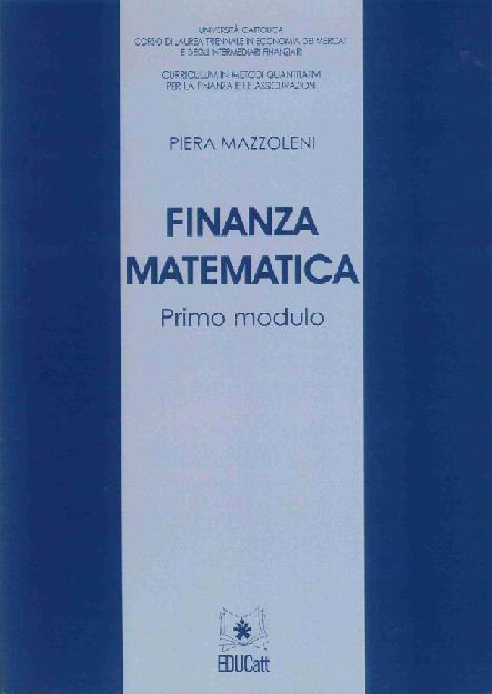 Finanza Matematica Primo Modulo
