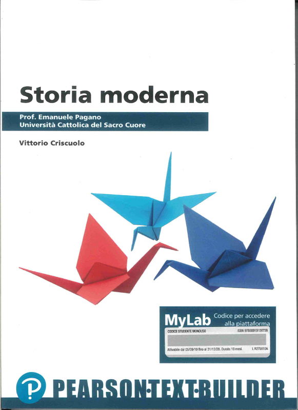 Storia Moderna Custom Universita` Cattolica
