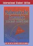 Mathematics For Economic Analysis