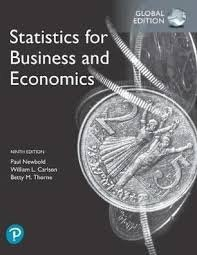 Statistics For Business And Economics, Global Edition 9th