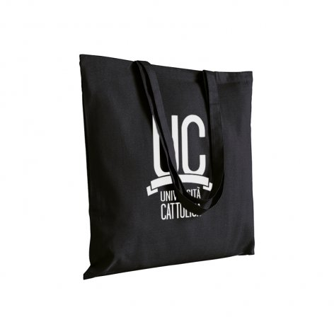 COTTON SHOPPING TOTE BAG BLACK