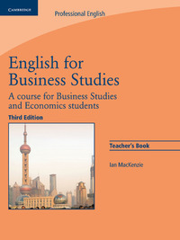 English For Business Studies. Teacher`s Book