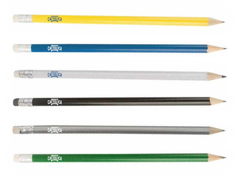 CLASSIC WOODEN PENCIL WITH ERASER - WHITE