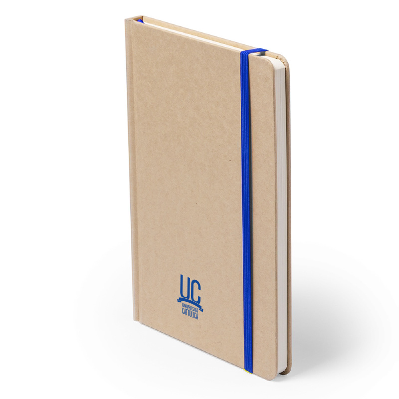 Notes In Carta Riciclata Con Elastico Blu