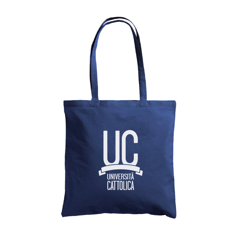 COTTON SHOPPING TOTE BAG NAVY