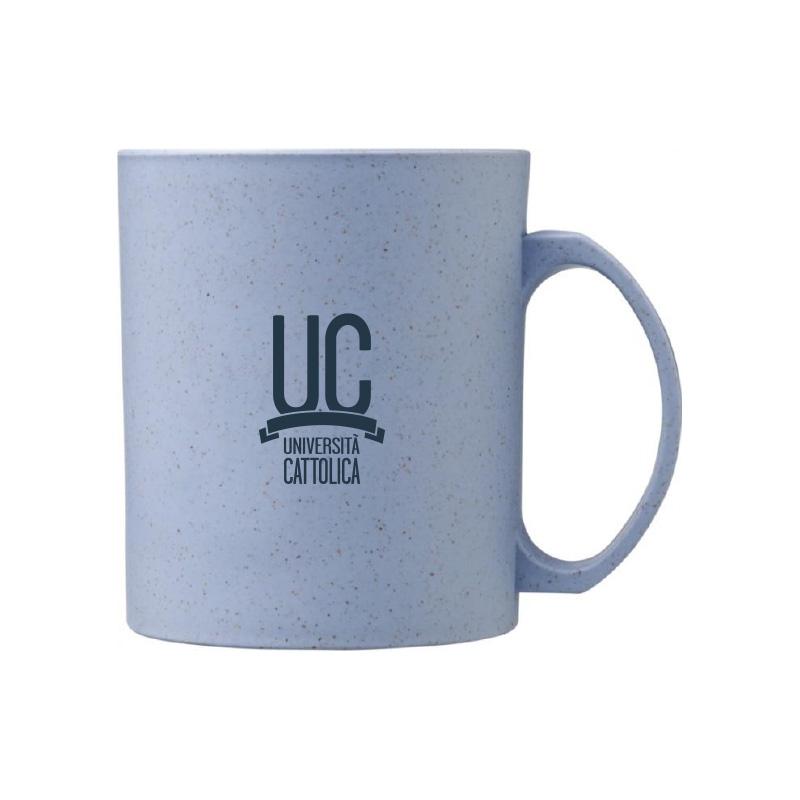 Tazza Mug In Fibra Di Grano Grigia